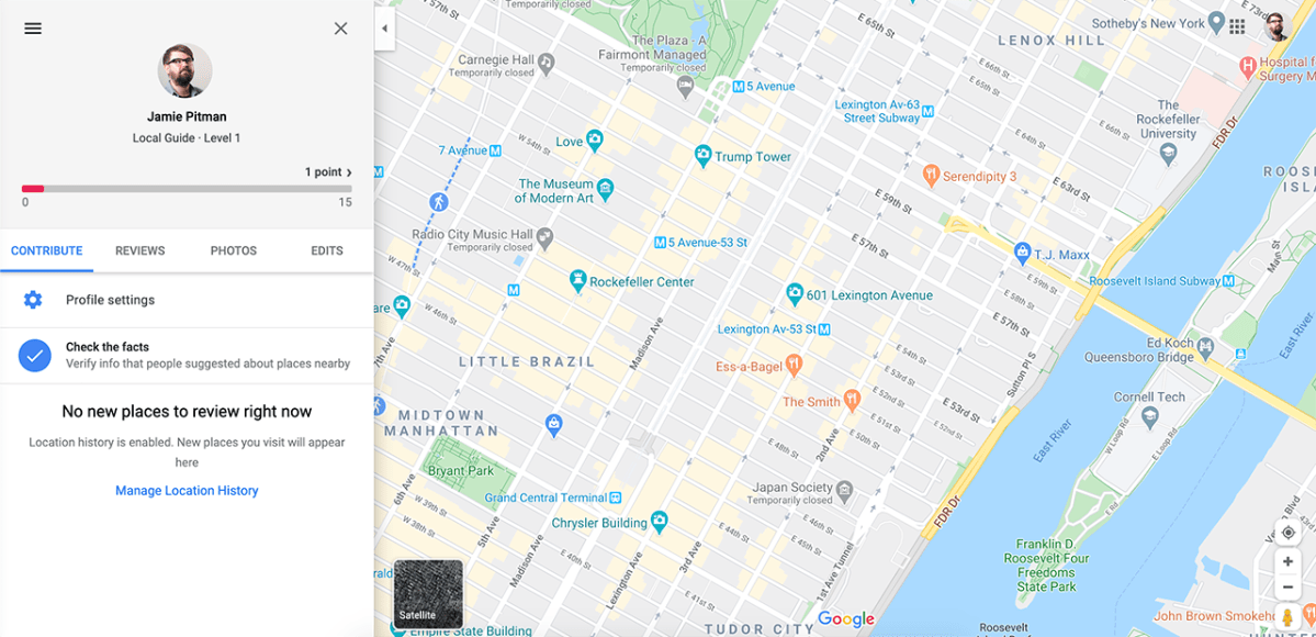 Local Guide Google Map