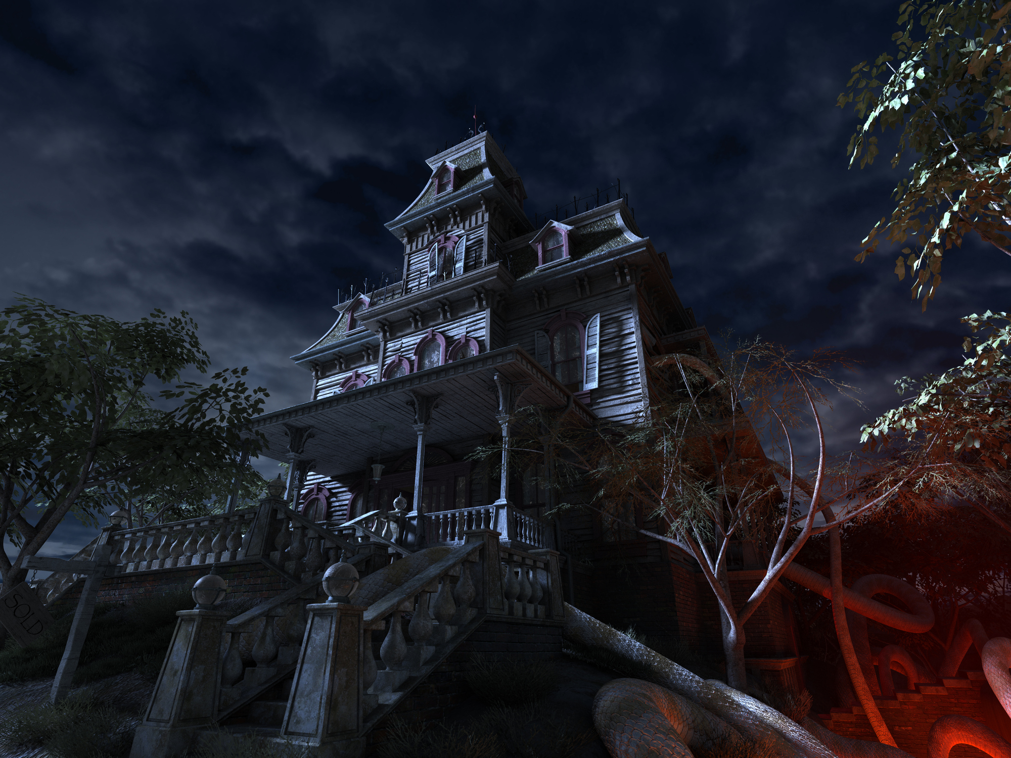 Haunted house not a deal breaker for many homebuyers for Idee deco halloween