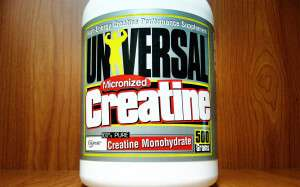 bottle of universal micronized creatine