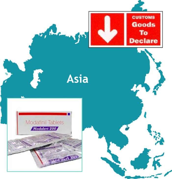 modafinil asia customs