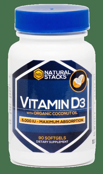 vitamin d3 with organic coconut oil - natural stacks nootropics