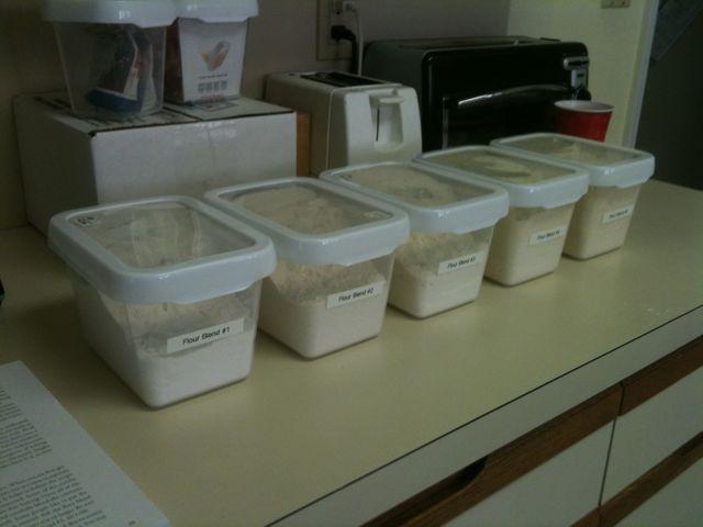 Finished flour blends 1 - 5