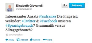http://twitter.com@ElisaGiovanoli sagte ...