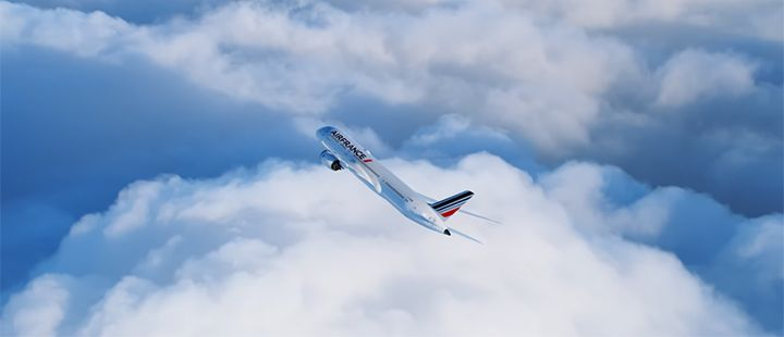 the air france boeing