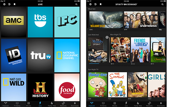 Comcast Adds More Live Streaming Networks to XFINITY TV Go