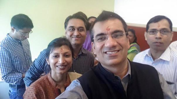 The Puja Selfie indulgence!