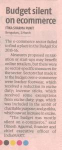 Budget silent on e-commerce