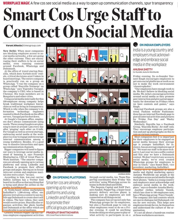 Economic Times - IndiaMART-30 June, 2015
