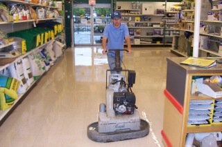 Wet Scrubbing in Retail Store