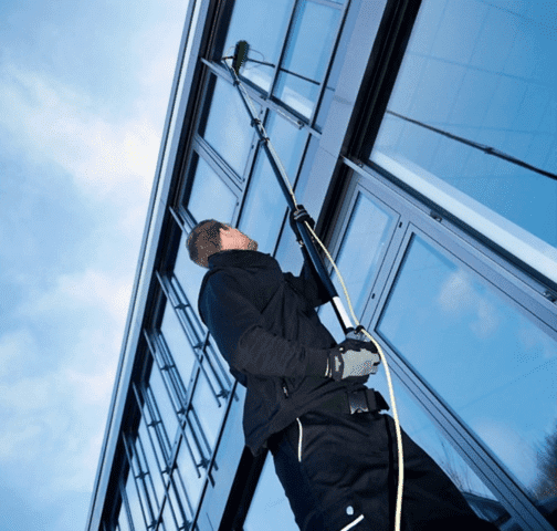 Professional Cleaning High Window