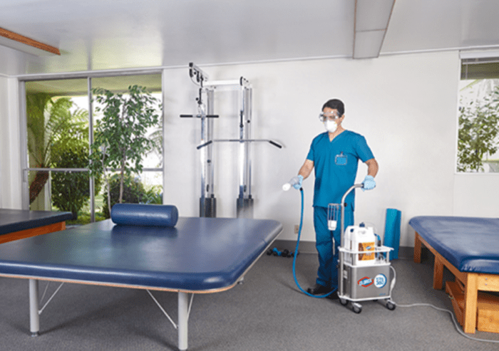 total disinfection of gyms