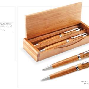 Unity Bamboo Pen And Pencil Set - Natural