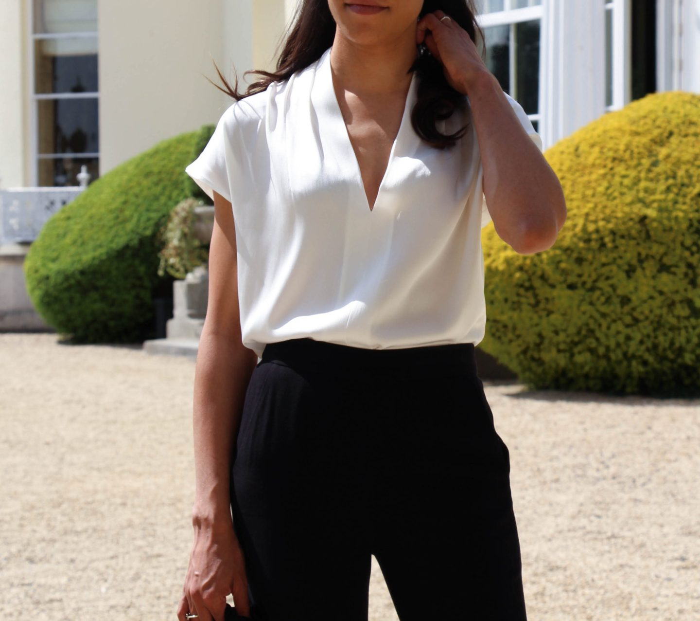 corporate-style-story-winser-london-white-silk-vneck-top-black-trousers