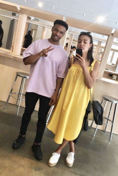 H&M Yellow Satin Dress