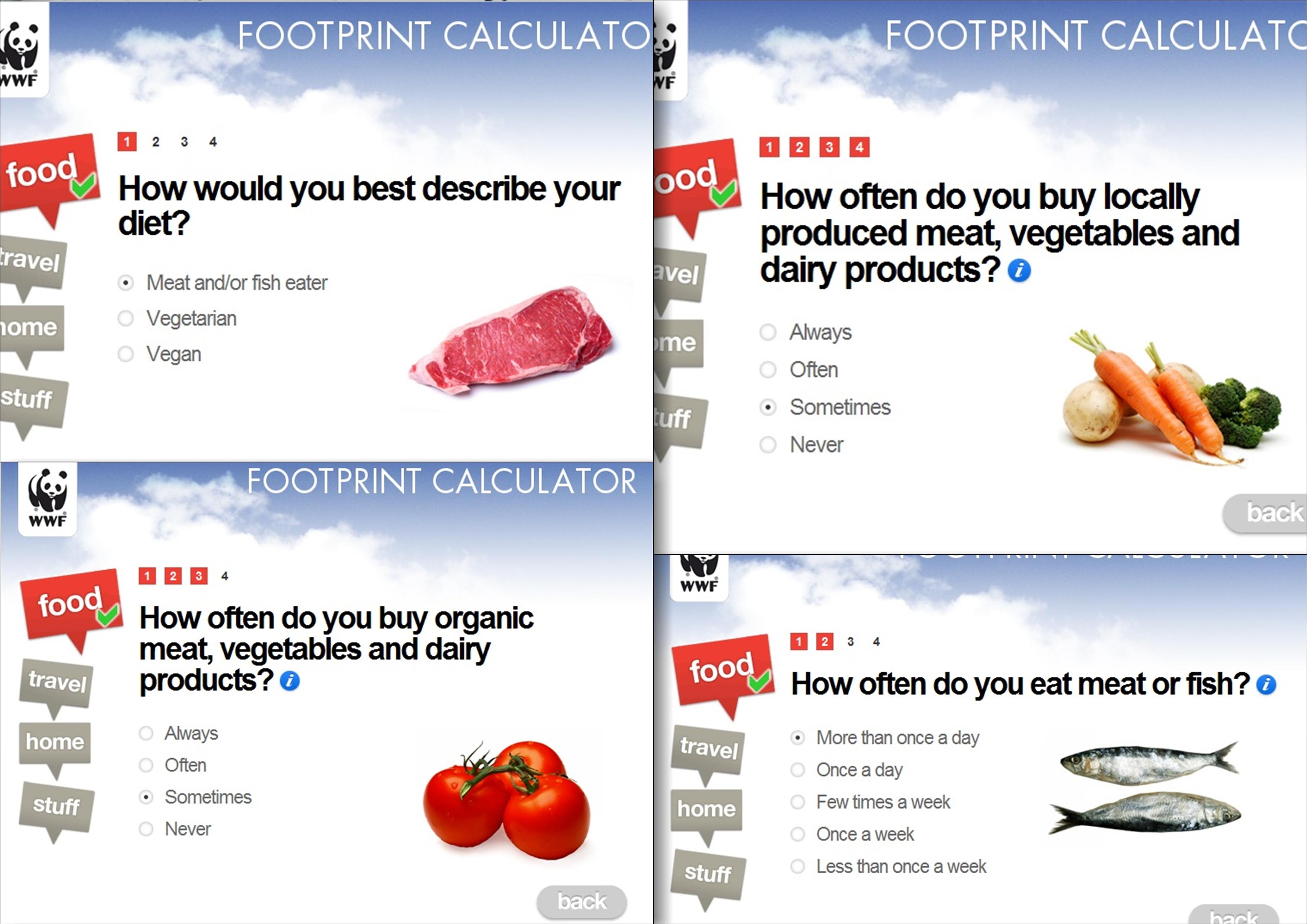Personal Carbon Footprint Food