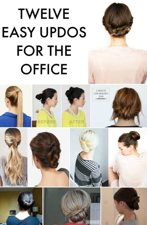12 Easy Updos For The Office
