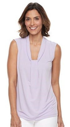 sleeveless top for work: a super affordable option in regular, petite and plus sizes