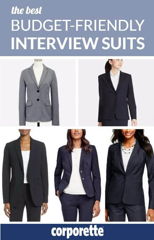 Budget-friendly interview suits -- do they exist? Are there any interview suits for women that are stylish AND affordable? The answer is YES -- we rounded up some of our favorites, just in time for on campus interview season.