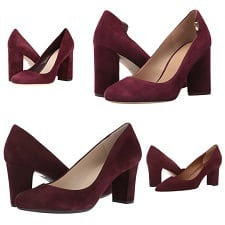 What to wear with wine-colored pumps
