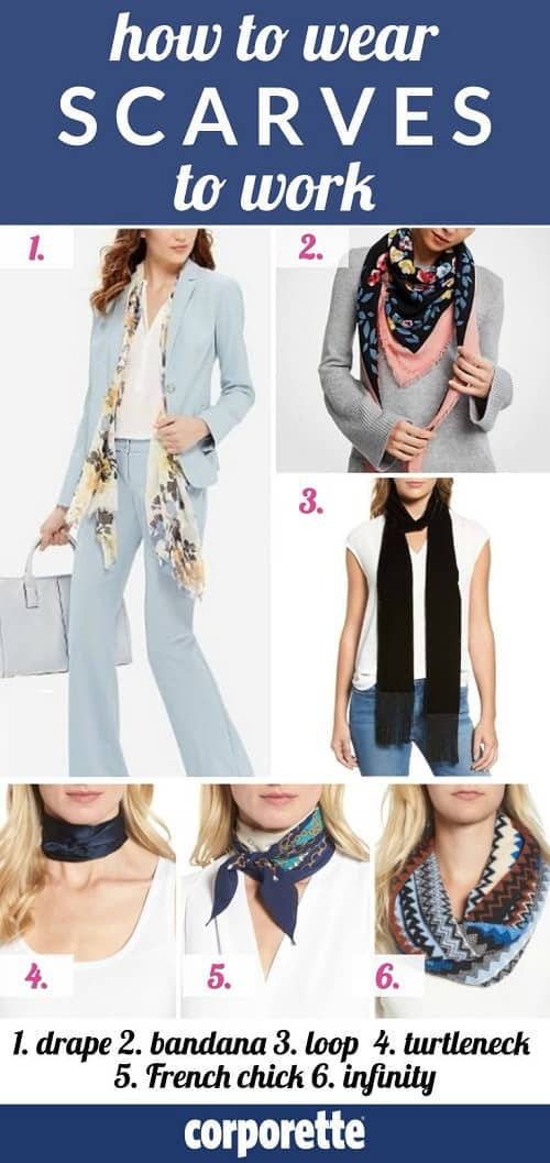 How to Wear Scarves to Work