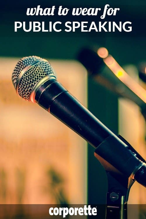 Whether you're teaching, presenting at a conference, or being interviewed on TV, it can be tricky for women to know what to wear for public speaking -- so we rounded up our best tips. Don't miss the comments, too; lots of great thoughts on microphone-friendly attire.