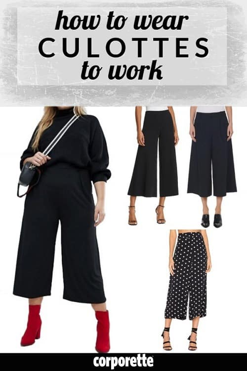 Are culottes appropriate to wear to conservative offices? Every office is unique, but if you're wondering how to wear culottes to work, we've got some tips for you...