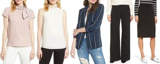nordstrom anniversary sale 2018 picks under 200 - stylish tops and bottoms for work under $  60!