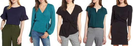 nordstrom anniversary sale 2018 picks under 200 - stylish tops and dresses for work under $  50!