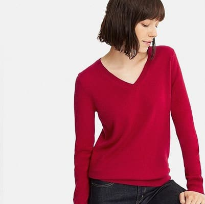 great cashmere sweaters for work - Uniqlo