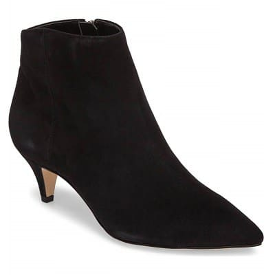 Stylish High-Heeled Boots for Work with Kitten Heels