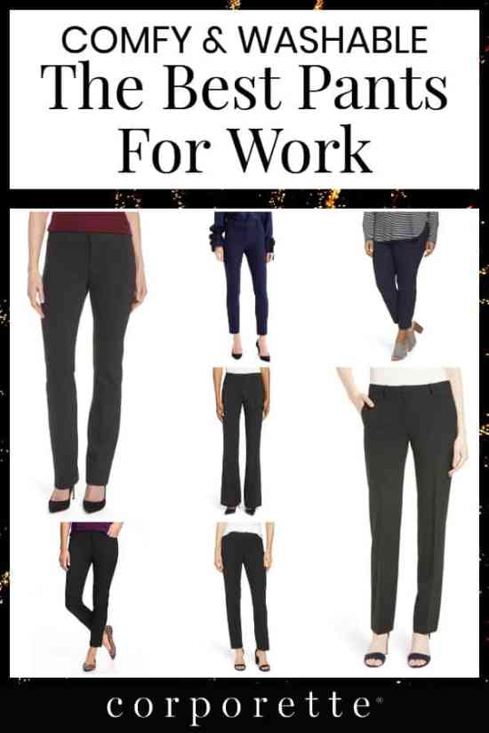 On the hunt for the best pants for work? We rounded up a TON of great options, from everything from the under-$  50 budget picks for work outfits to the stylish, sleek, super professional suit separates (trousers and ankle pants!) that also make your booty look great. We've rounded up the best washable pants for work, the comfiest pants for work, and the best mix of comfort, style, and easy care. Did we include your favorites?