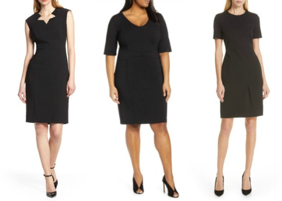 collage of different dresses from Nordstrom