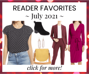 Corporette reader favorites - most bought items in July 2021
