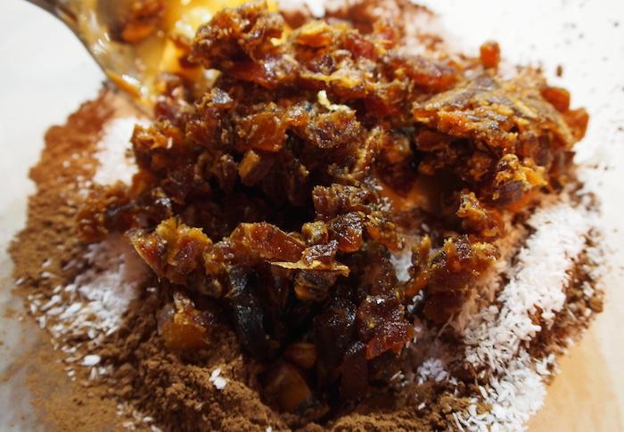 dates carob flour sesame and coconut