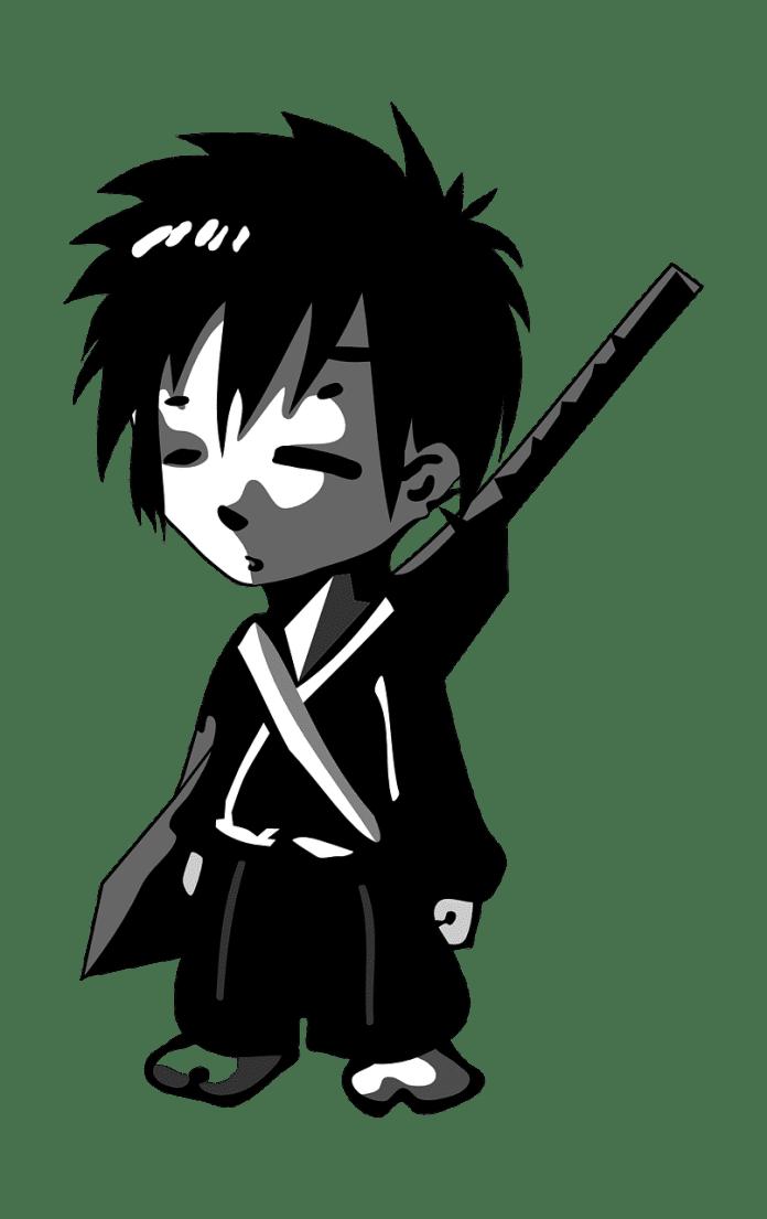 Dessin d'un jeune samurai