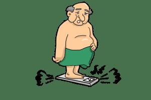 Dessin d'un homme obèse