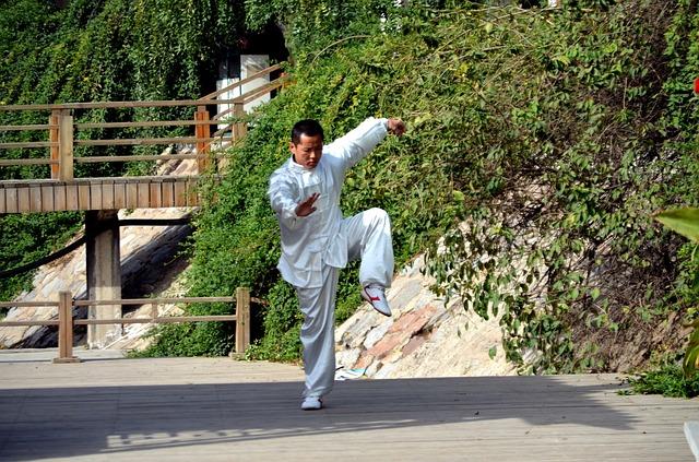 Homme qui fait du kung fu