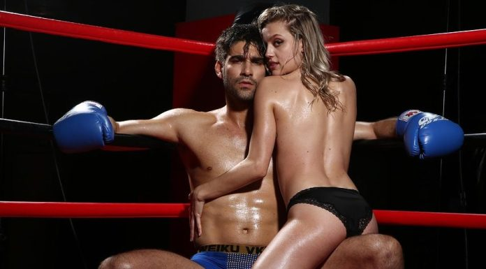 Un couple sexy sur un ring