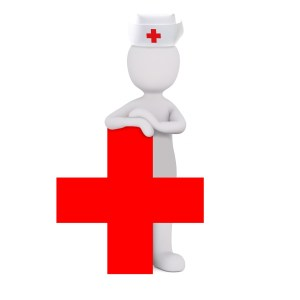 Dessin d'un infirmier la croix rouge