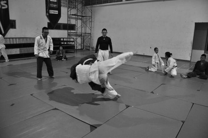 Projection de judo