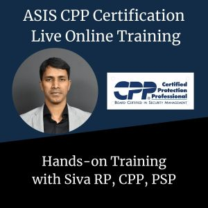 ASIS CPP Live Online Training - Corp Security Solutions