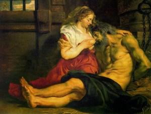 Rubens, Caridad Romana, 1612