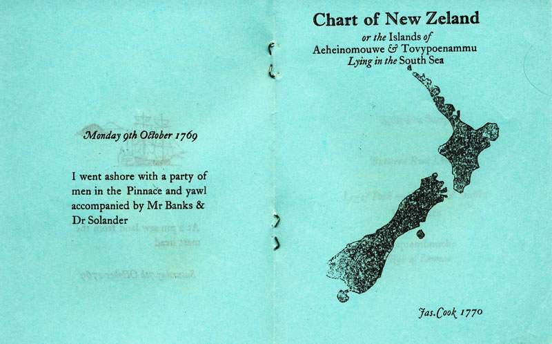 Chart of New Zealand