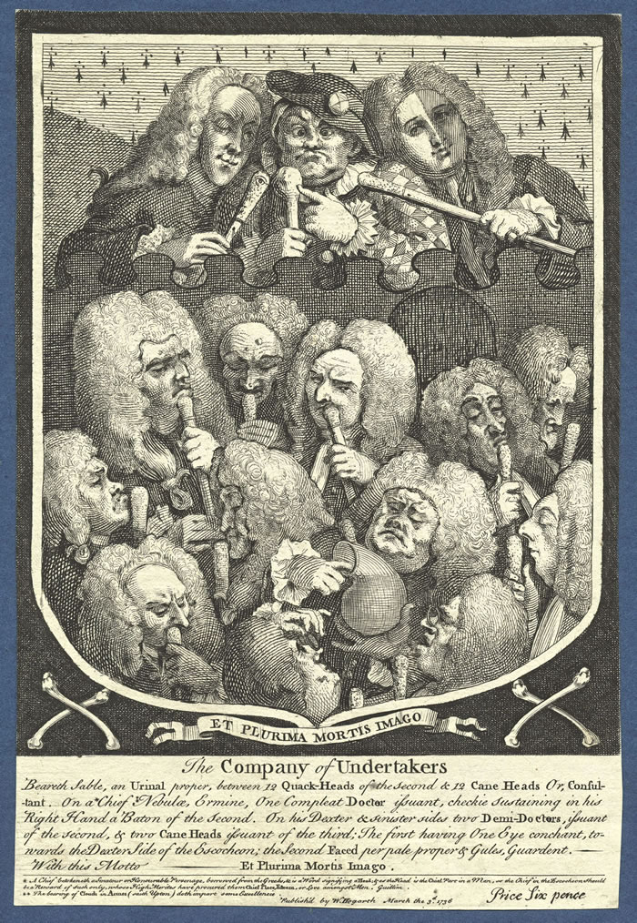The Company of Undertakers by William Hogarth