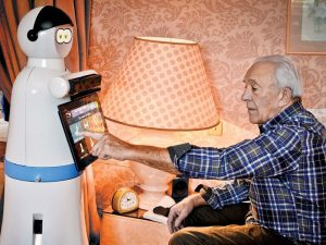 robot and elderly