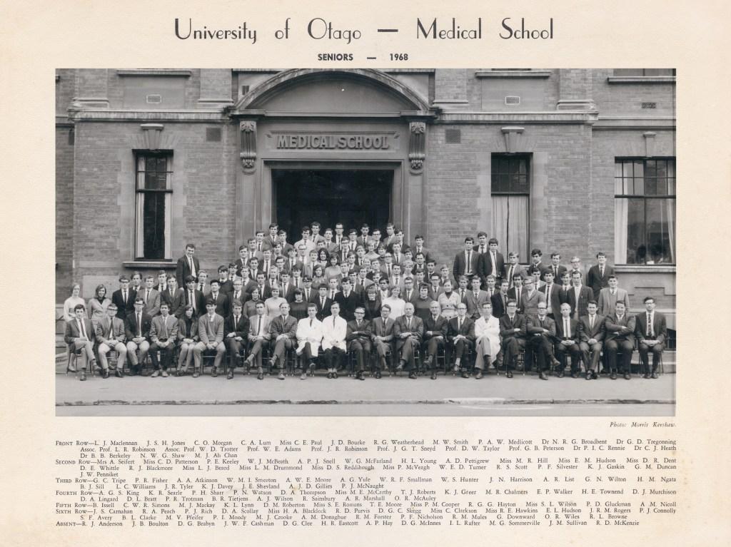Otago Medical School seniors 1968