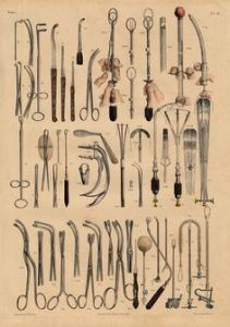 old medical tools