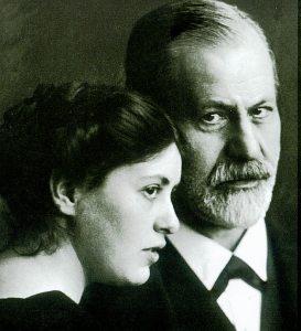 Sigmund Freud and his daughter Sophie