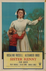 Poster for the 1946 film 'Sister Kenny'.