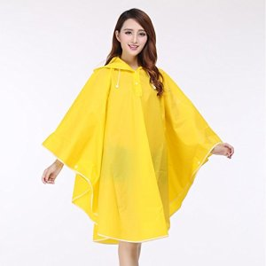 girl in yellow raincape